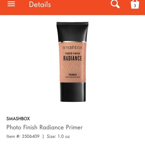 Smashbox Makeup Photo Finish Primer Radiance Poshmark